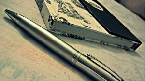 A pen and a notebook. What will you write?