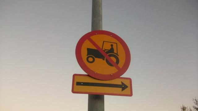 Tractor-free zone this way