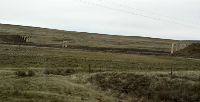 The ruins of an old overpass - mysterious and haunting in this landscape. I feel a story idea brewing...