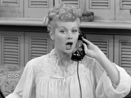 Lucille Ball in her most famous role on her show I Love Lucy